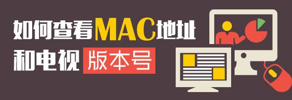 如何查看智能电视的MAC地址和电视版本号?