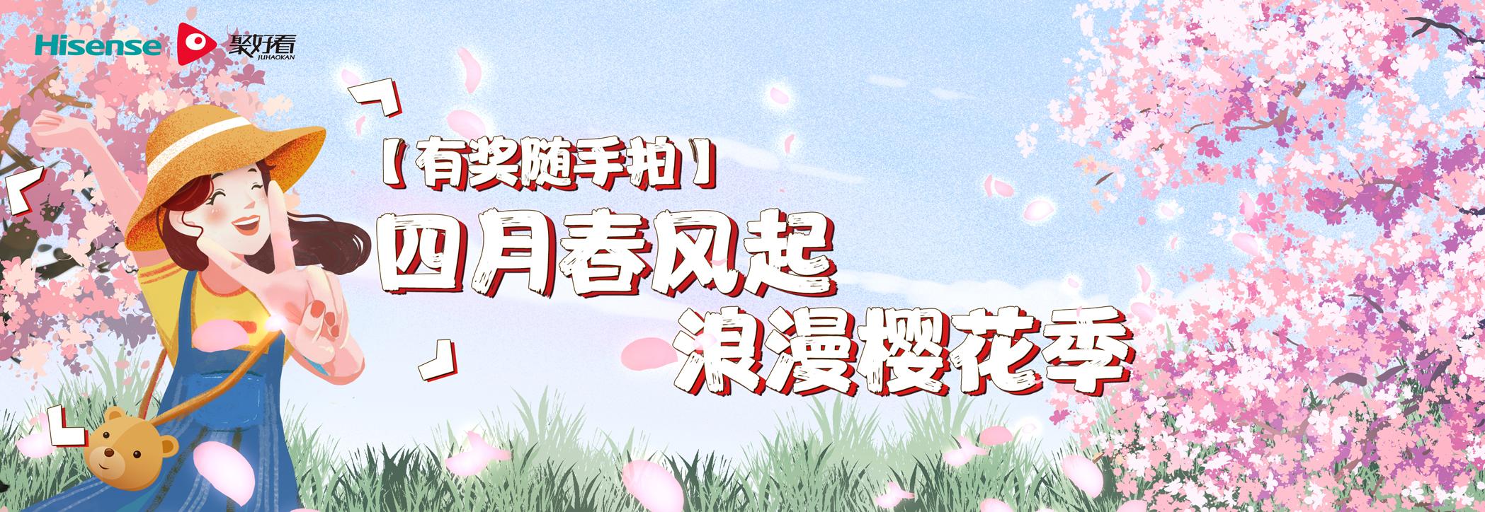 【有奖随手拍】四月春风起,浪漫樱花季